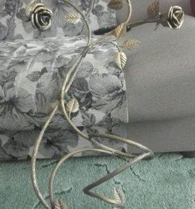 Подставка под цветы настенная металлическая