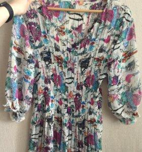 Шелковая женская блузка