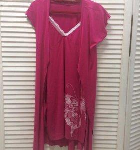 Комплект(сорочка+халат)