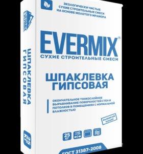 """Шпаклевка Гипсовая """"EVERMIX"""" 25кг."""