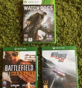 NFS Rivals, Battlefield Hardline, Watch Dogs