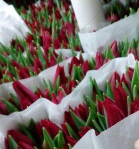 Тюльпаны цветы букеты подарок 8 марта