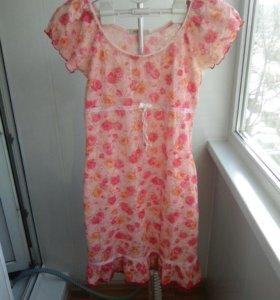 Кружевное летнее платье