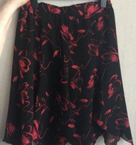 Шифоновая женская юбка р-р 48-50
