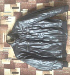Кожаная куртка, зимняя