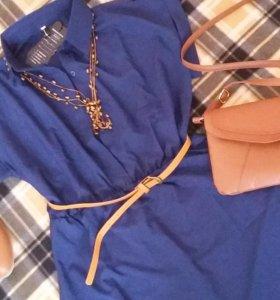 Рубашка платье+клатч +ожерелье