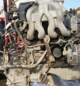 Двигатель б/у с навесным. Мазда демио 1.3