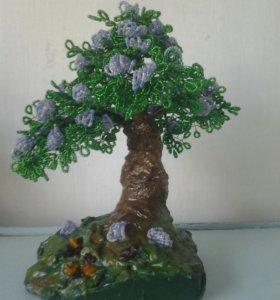 Цветы из бисера деревья
