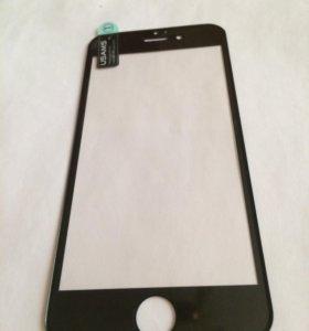 Стекло IPhone 6/6s черная