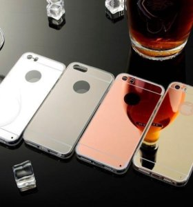 Зеркальный силиконовый чехол iPhone 5/5s/se