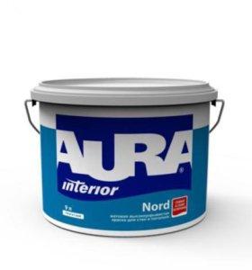Краска интерьерная в/д Aura Nord 9л
