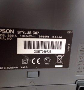 Устройство: Принтер Epson Stylus C87.