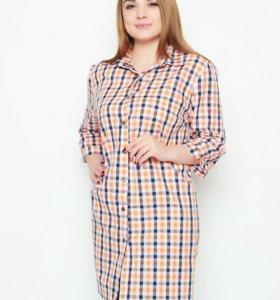 Туника-рубашка 52-54р