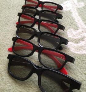 3d очки комплект 6 штук