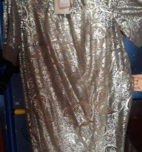 Платье нарядное с пайетками (новое)