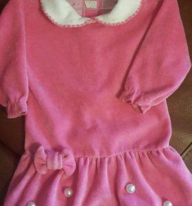 Платье на малышку 80р.