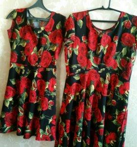 Платья для мамы и дочки.
