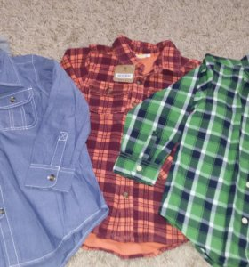 Новые рубашки на мальчика 5-6л, crazy8