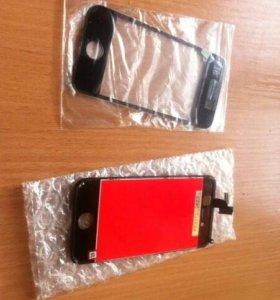 Стекло и модуль на айфон 4,4s