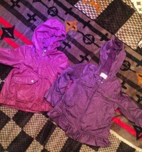 2 куртки весна 74и 92 рост