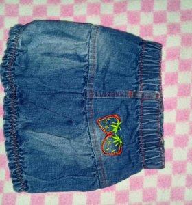 Юбоочка джинсовая