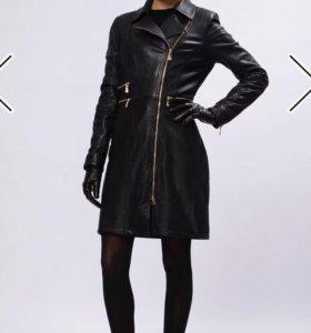 Кожаное пальто новое, 46 размер