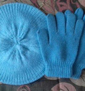 Берет с перчатками