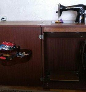 Швейная машина (Подольск) с тумбой