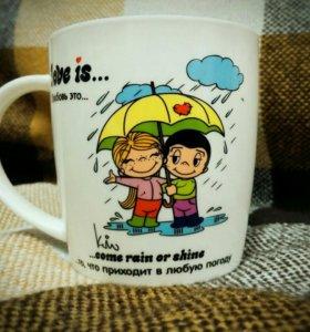 Кружка Love is... В любую погоду