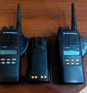 Радиостанции Motorola gp360 2шт