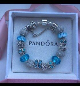 Голубой браслет Пандора