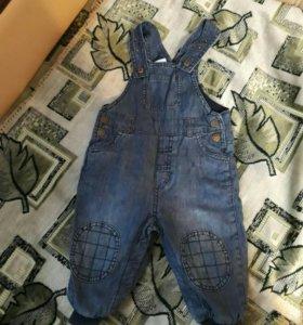 Джинсовой комбинезон и джинсы