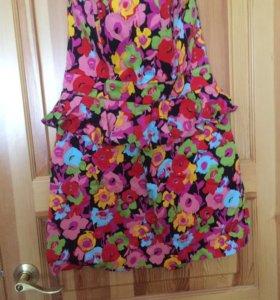 Летнее корсетное платье -бюстье 52-54
