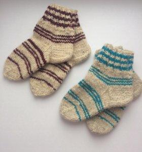 Носки вязаные шерстяные