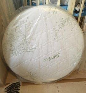 Круглый матрас кокос