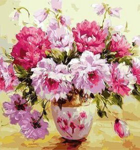 Картины по номерам 50х40см букеты, цветы