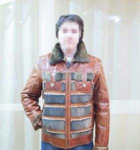 Новая кожанная зимняя куртка