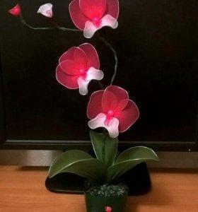 Орхидея из капрона.