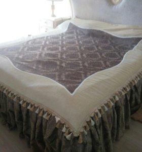 Покрывало на двуспальную кровать ручной работы
