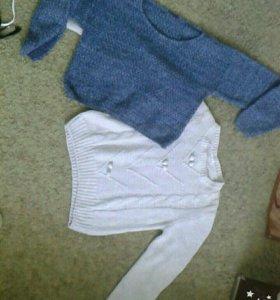 укороченный джемпер и свитер
