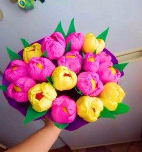 Тюльпаны 🌷ручная работа ☝️