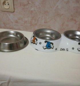 Миски для маленькой собаки или кошки.
