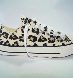 Кеды Converse Леопардовые низкие