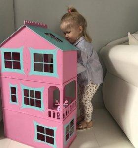 Кукольный домик,ящики для игрушек