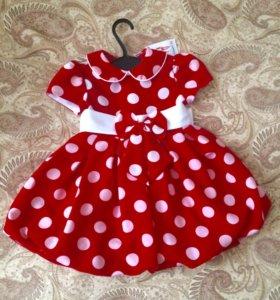 Новое очень красивое платье от 1-2,6 лет