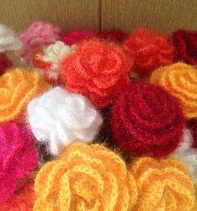 """Цветы """"Розы"""" с листочками"""