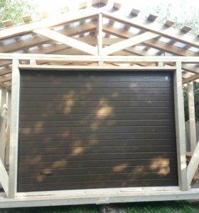 Ворота на дачу секционные гаражные Алютех 2,5х2,5