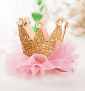 Заколка в виде короны