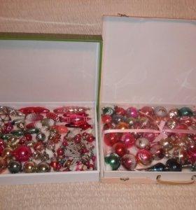 Ёлочные игрушки времён СССР