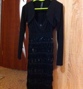 Платье с пайетками и болеро